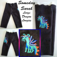 Large Dragon Longies with Interlock Waistband
