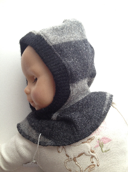 6-18 months Up-cycled Lambswool Balaclava