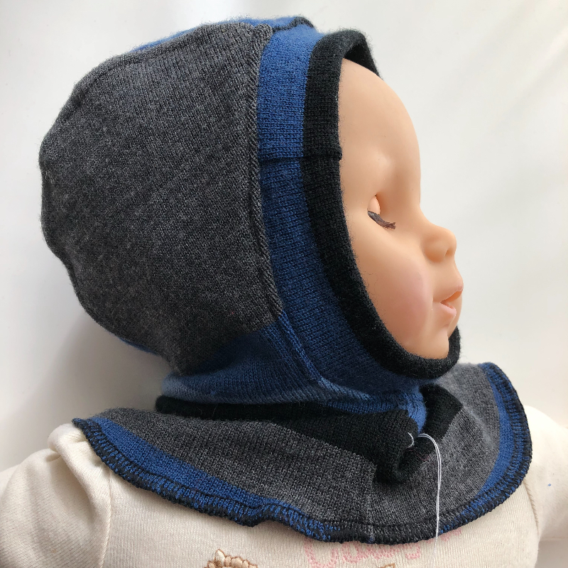 4-18 month - Upcycled Merino Lined Wool Balaclava