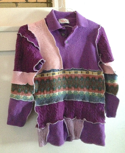 Purple Recycled Wool Sweater