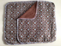 Brown with Blue Flowers Double flannel Unpaper towels or Napkins