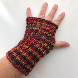 Autumn Wool Fingerless Gloves / Arm Warmers