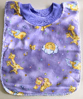Purple Zoo  Pull On Cotton Bib