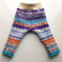 6-12 months - Purple, Teal and Orange Patterned Longies