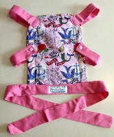 Pink Tattoo Toy Front Carrier for your Little One to Carry their Toy Baby