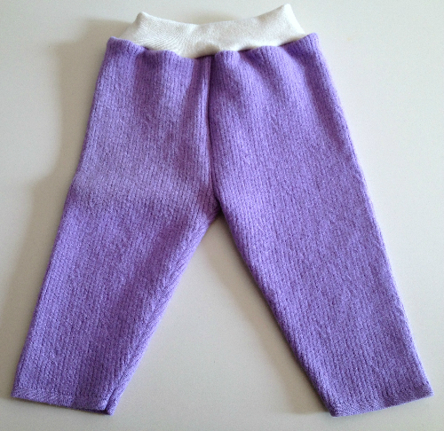 Lavender Recycled Wool Longies with Interlock Waistband