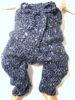 0-3+ months - Hand Knit Small Baby Pants and Hat Set