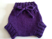 Small Purple Hand Knit Wool Soaker, Diaper Cover and Photography Prop