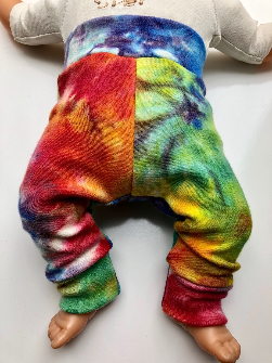 0-3+ Months - Rainbow LWI dyed Wool Longies - XS
