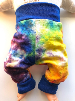 6-12+ Months - Rainbow LWI dyed Wool Longies - Medium