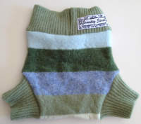 Small Blue Striped Recycled Wool Soakers