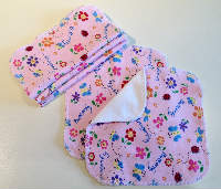 Butterfly Cotton Knit and Bamboo Velour Cloth Wipes