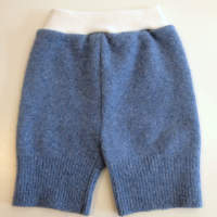 Medium Blue Recycled wool Shorties