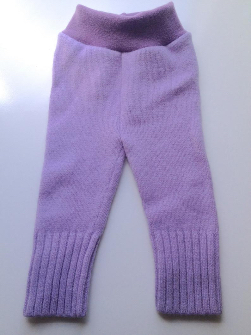 6-18 months - Wool Diaper Cover - Recycled Purple Lambswool Longies - Medium