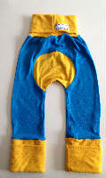 Woolly Blue and Yellow Jersey Pants Jecaloones