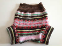 Small Pink Patterned Recycled Wool Soaker