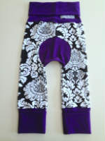Black, White and Royal Purple Jecaloones - Size 1