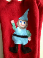 Large Recycled Cashmere Gnome Longies with Interlock Waistband