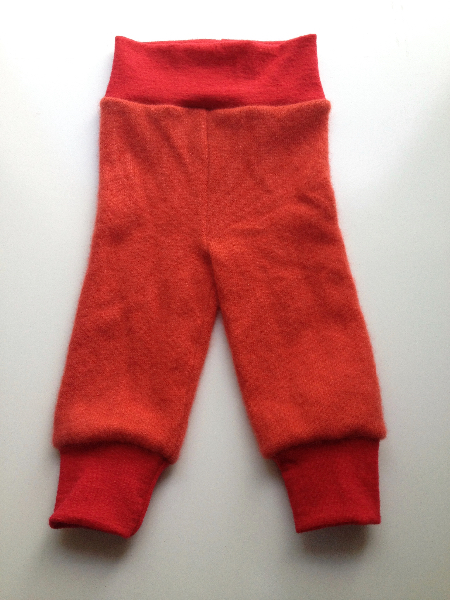 3-6+ months up-cycled Cashmere Wool Longies - small