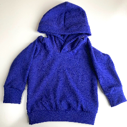 6-12+ months - Purple Wool Jersey Hoodie - Medium