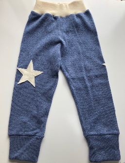 3T - Upcycled Blue Cashmere Wool Longies Pants