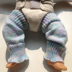 Pastel Knit Arm Warmers or Toddler Leg Warmers