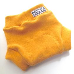 6-18 Months - Hand dyed Golden Ochre Wool Interlock Diaper Soaker - Medium