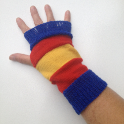 Super Hero Wool Knit Arm Warmers Fingerless Gloves