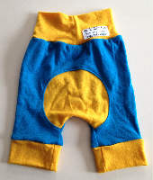 Woolly Yellow and Blue Jersey Jecaloones Capris