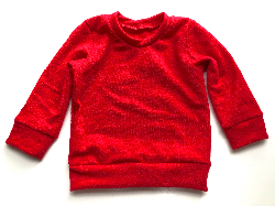 6-12 or 12-18 months - Red Wool Jersey Long Sleeve Shirt