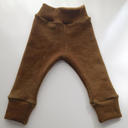 6-18 months - Diaper Cover Wool Longies - hand dyed Olive Brown Wool Interlock - Medium