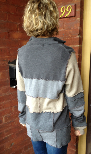 Grey Recycled Wool Adult Sweater