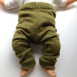3-12 months - Machine Knit Wool  Longies - Wool Pants Diaper Cover - Small to Medium
