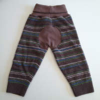 Recycled Brown Striped Wool Longies