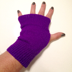 Purple Acrylic Arm warmers Fingerless Gloves