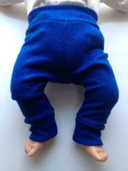 NB to 3T - Light Weight Wool Interlock - Royal Blue Longies Pants - Baby to Toddler sizes
