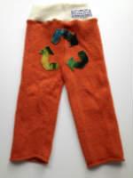 Orange Recycled Merino Longies with Recycled Symbol