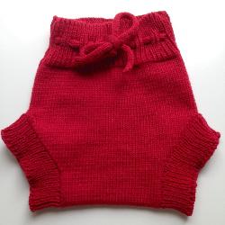 6-18 months - Diaper Cover Wool - Knit Medium Light Weight Red Wool Soaker