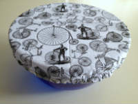 Medium Retro Bikes Reusable Bowl Cover