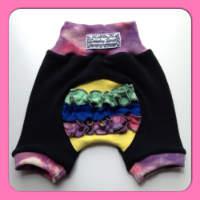 Pink Rainbow Woolly Ruffle Butt Jecaloones Shorts/Bloomers - mini
