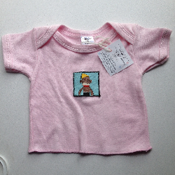 Newborn Pink Monkey Shirt - XS