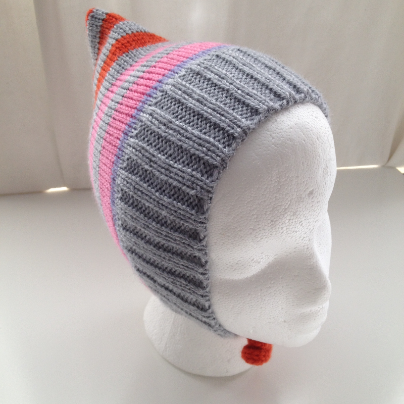 6-24 months - Baby Toddler Acrylic Striped Pixie Hat
