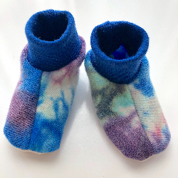 Newborn - Wool Interlock Crib Booties