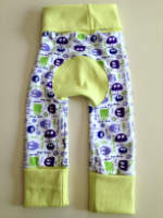 Sale - Lime and Purple Ooga Booga Pants Jecaloones - Size 1