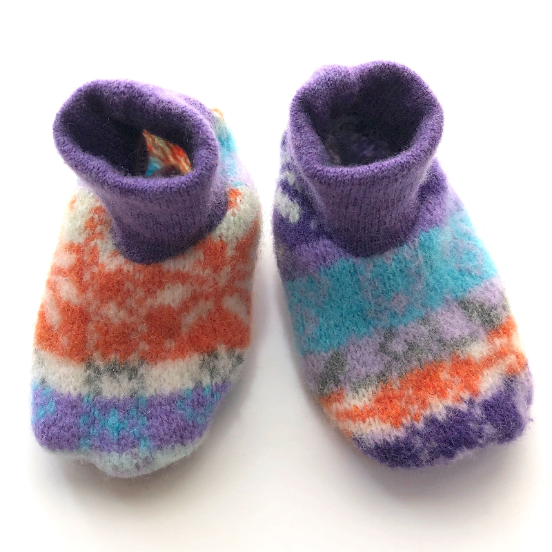 Newborn - Up-cycled Lambswool Crib Booties