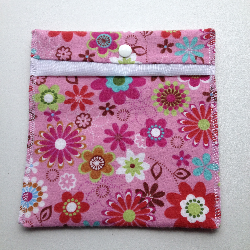 Flower Pouch or Snack Pack with Nylon Lining