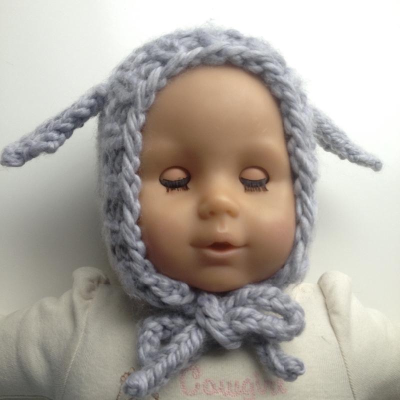 0-6 months Hand Knit Baby Bonnet