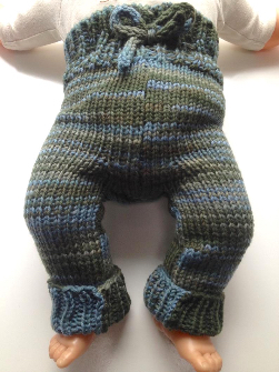 0-6 months - Newborn-Small Diaper Cover Wool - Knit Cuffed Wool Longies