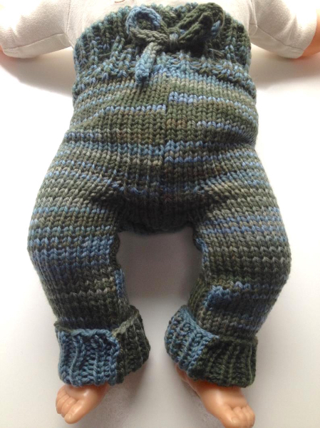 0-6 months - Newborn-Small Diaper Cover Wool - Knit Cuffed Wool Longies