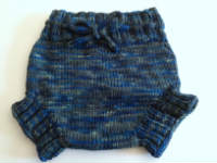 Custom Reserved - Large Navy & Olive Hand Knit Wool Soaker, Diaper Cover
